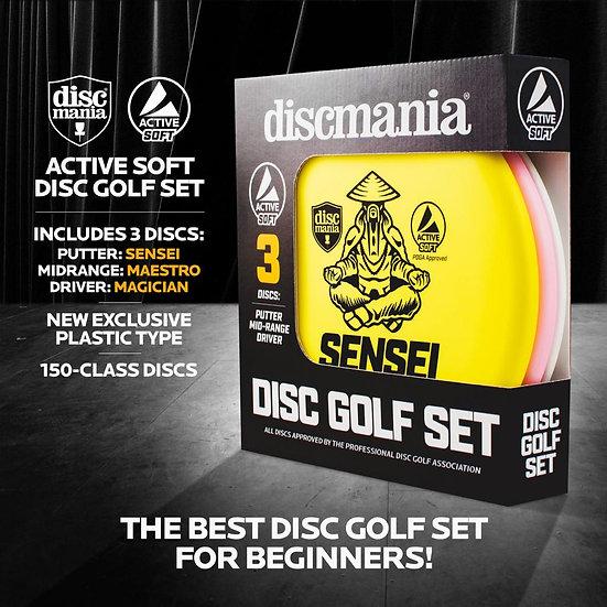 Active Soft Disc Golf Set - 3 Discs