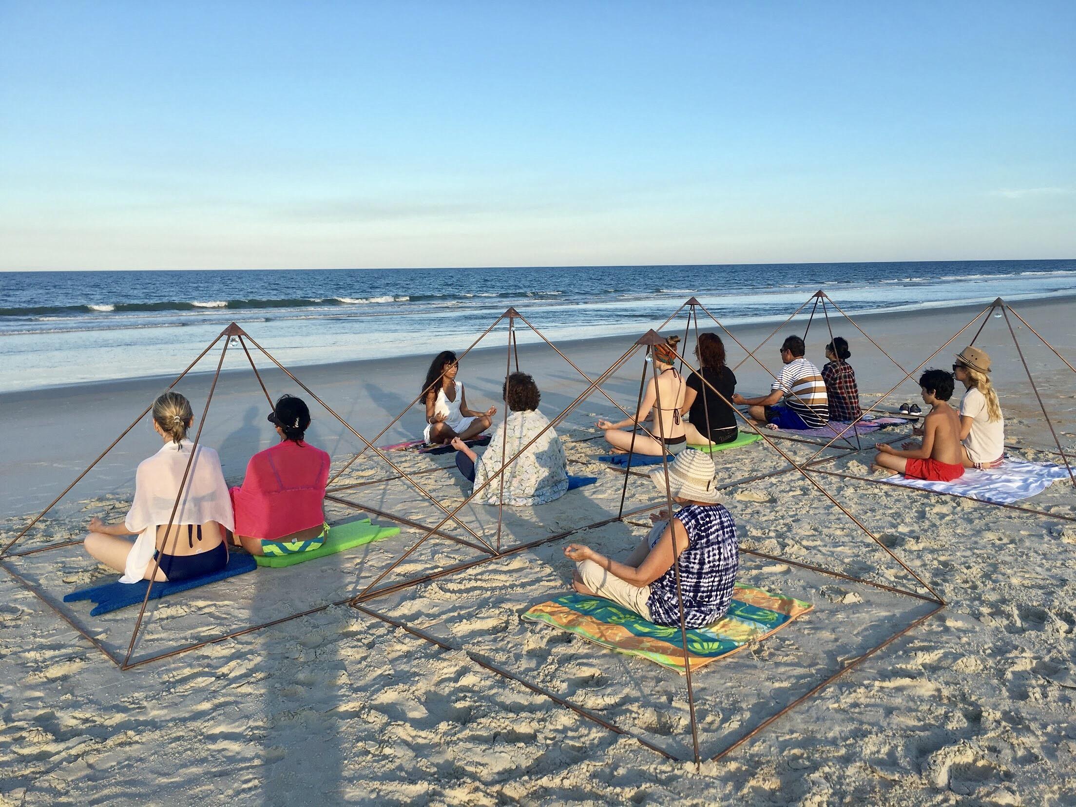 PYRAMID BEACH MEDITATION FLORIDA