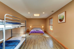 Shared Room 2 with Queen & Bunk Beds