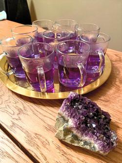 Purple Organic Herbal Tea for Relaxation