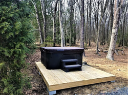 Hot Tub in Nature for De-Stressing