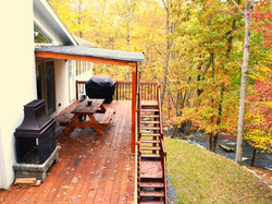 Outdoors fireplace riverfront house