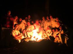 white energy campfire ceremony