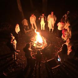 campfire at ayurvedic detox retreat