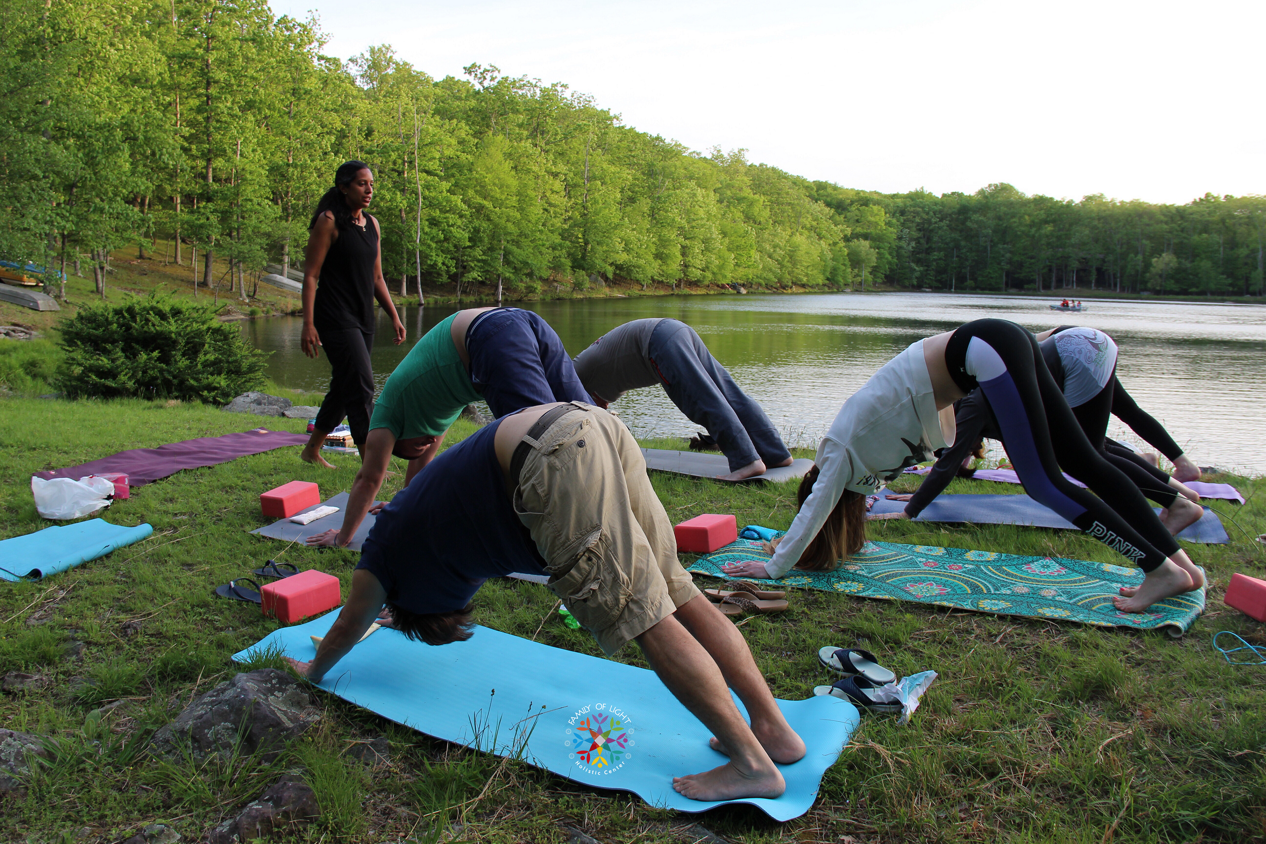 Yoga with Essential Oils in Nature