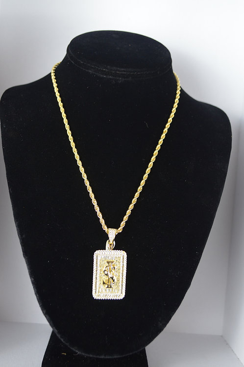 Pave Iced Money Sign Charm