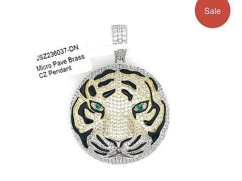 Brass Tiger Pendant