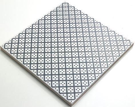 20x20cm Decori Wonder's Patch 2 Grigio WP300