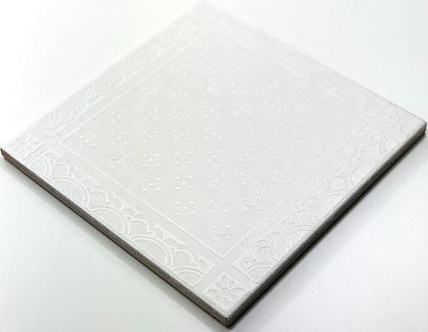 20x20cm Decori Wonder's Patch 4 Bianco WP300