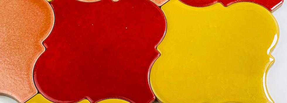 Arabesco A436 Rosa Pesco - A415 Rosso - A47 Giallo Lucido