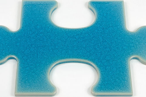 17x28 Puzzle A913 Azzurro craquelé