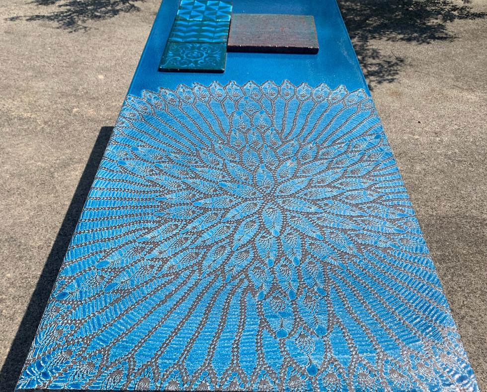 outdoor table blu burano
