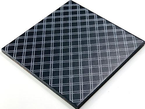20x20cm Decori Wonder's Patch 7 Silver WP355 nero