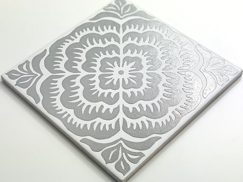 20x20cm Decori Wonder's Patch 3 Silver WP300