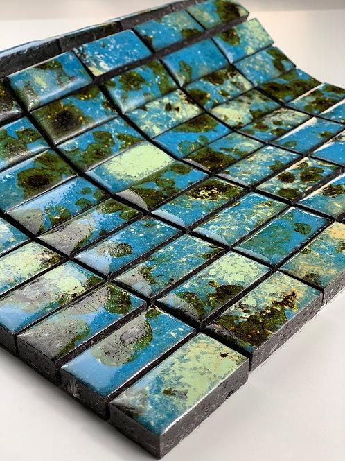 LAVASTONE 2,3x4,8 Mosaico Galassia Turchese