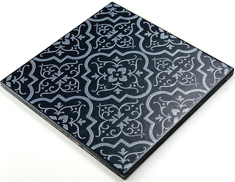 20x20cm Decori Wonder's Patch 1 Silver WP355 nero