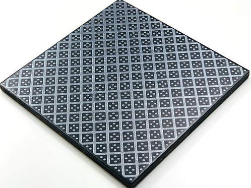 20x20cm Decori Wonder's Patch 2 Silver WP355 nero