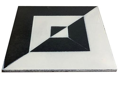 30x30 Lavastone Geometrico bianco nero 1