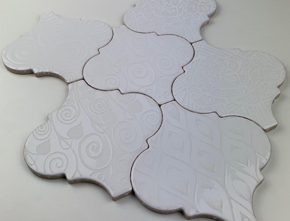 Arabesco W300 Klimt Bianco