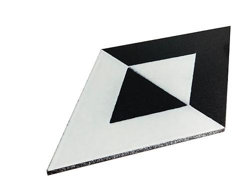 20x40 Romboidale Lavastone Geometrico bianco nero 1