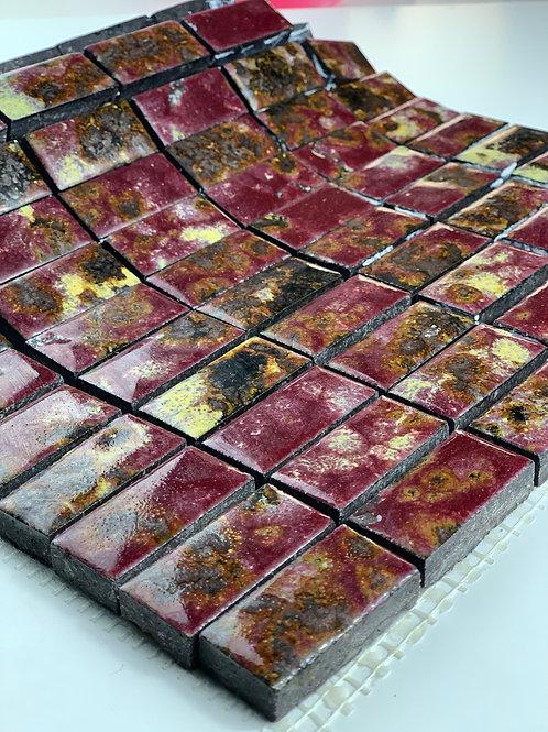 LAVASTONE 2,3x4,8 Mosaico Galassia Bordeaux