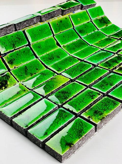 Mosaico in Lava 2,3x4,8 Canaletto Verde Chiaro