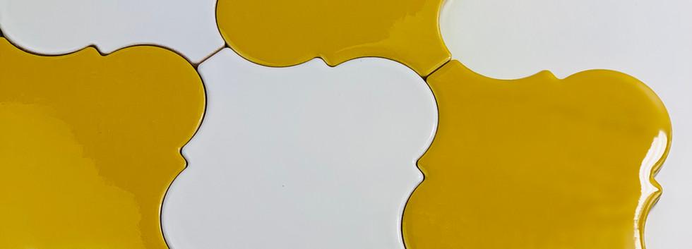 Arabesco A45 Giallo A10 Bianco Lucido