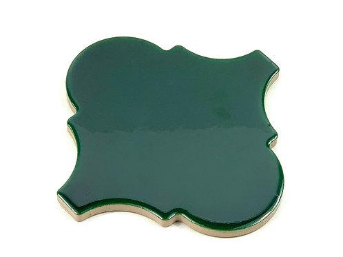 15x15 Arabesco A52 Verde Rame Lucido