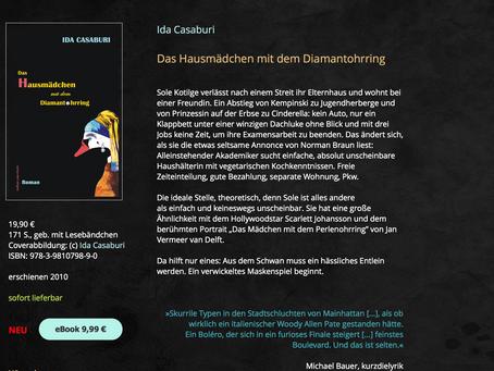 """Ab sofort: """"Das Hausmädchen mit dem Diamantohrring"""" von Ida Casaburi als eBook auf Amazon"""