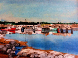 West green Harbor, Leah and Rogers Painting