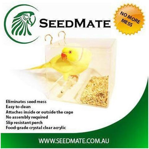 SeedMate Pet Bird and Parrot Feeder Small