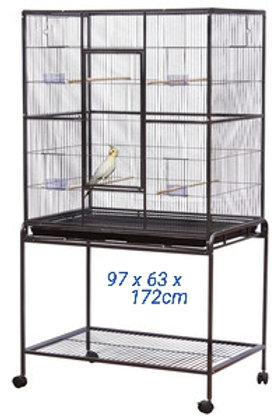 Parrot Deluxe Flight Cage 97cm x 63cm x 172cm