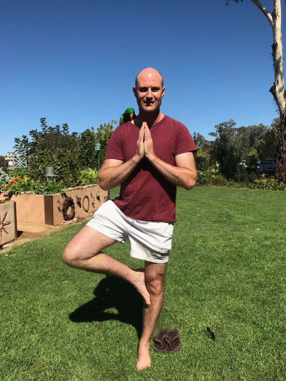 Dawang with his Yoga Teacher