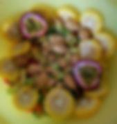 Fresh Fruit & Vegetables chopped raw for Breakfast