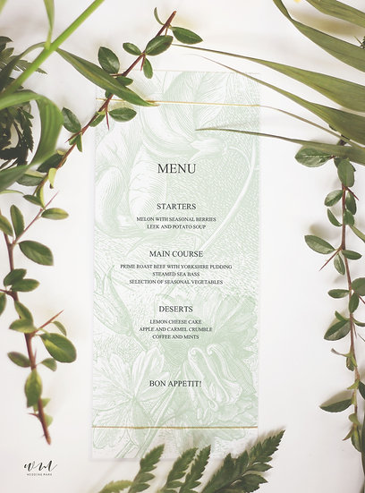 MENU CARD / LEAFLET