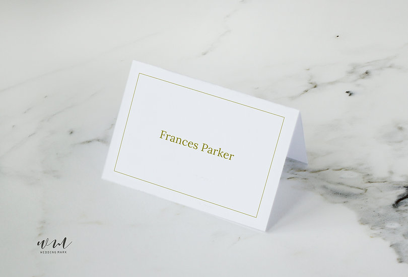 TABLE CARD / ELEGANT