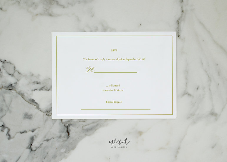 WEDDING RESPONSE CARD / ELEGANT