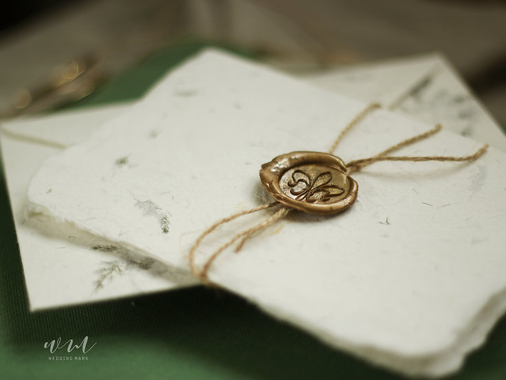 WEDDING INVITATIONS / 30 CARDS / FOREST