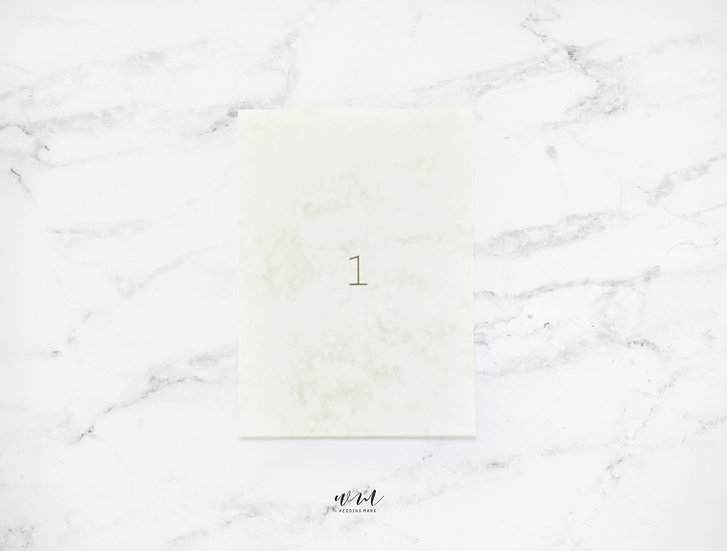 TABLE NUMBERS / MARBLE