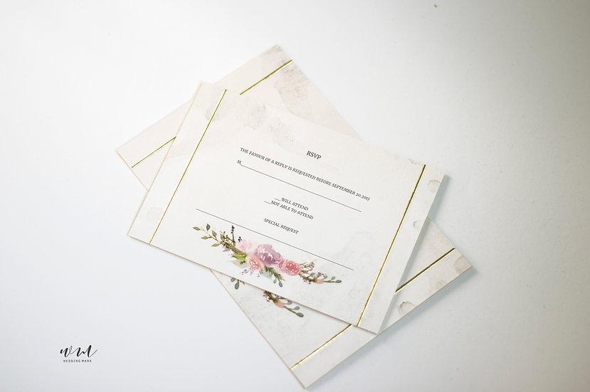 WEDDING RESPONSE CARD / BOUQUET