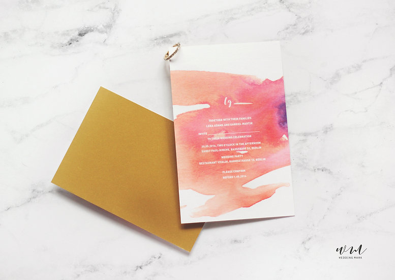 WEDDING INVITATION / WATERCOLOR PURPLE