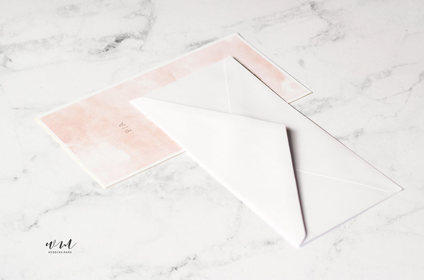 ENVELOPE / WATERCOLOR PEACH