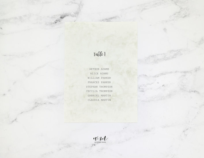 TABLE PLAN / MARBLE