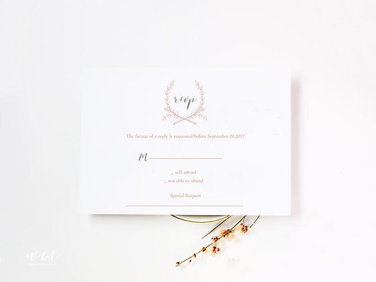 WEDDING RESPONSE CARD / NEUTRAL