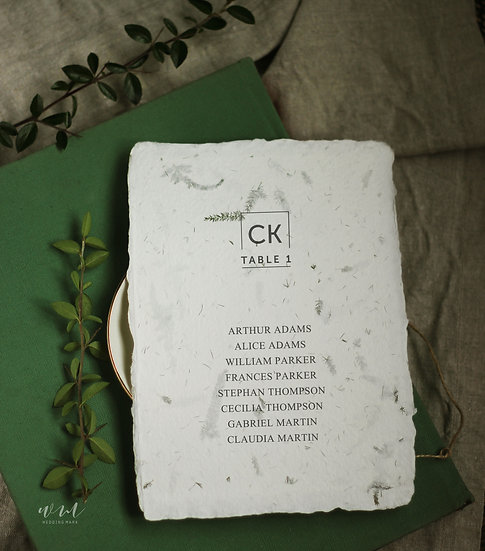 TABLE PLANS / 10 CARDS / FOREST