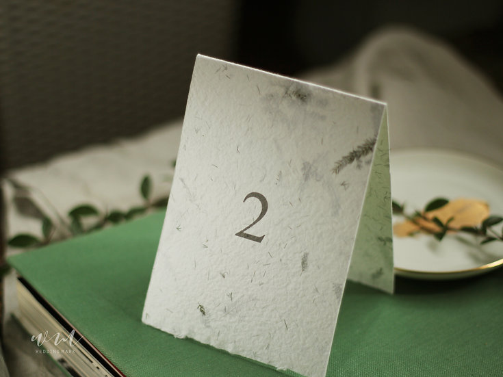 TABLE NUMBERS / 10 CARDS / FOREST