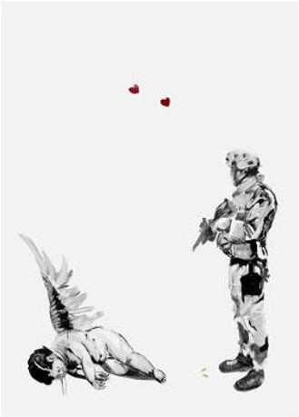 Antony Micallef, artistFriendly Fire, screenprint for sale,