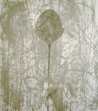 Prunella Clough, Black Peony, silkscreen, for sale