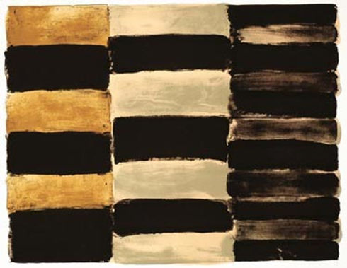 Sean Scully, artist, Paris Black, signed lithograph for sale