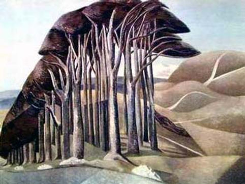Paul Nash, artist, Wood on the the downs, giclee print, for sale